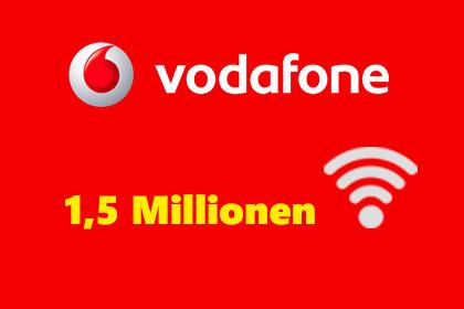 Vodafone 1,5 Millionen Hotspots