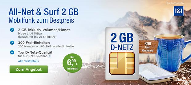 GMX All-Net & Surf 2 GB