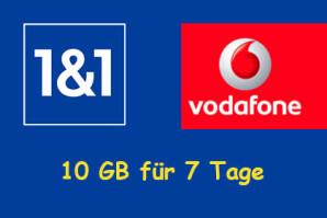 1&1 verschenkt 10 GB Gratis Volumen an alle Bestandkunden im Vodafone Netz