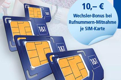 1&1 - 4 SIM Karten