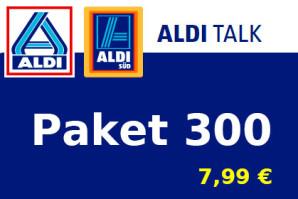 Aldi Talk Paket 300 – Ab Valentinstag mehr Surfen zum alten Preis