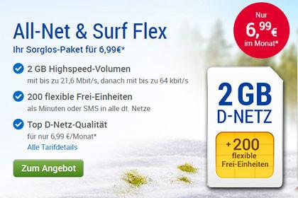 GMX - All-Net & Surf-Flex 2 GB