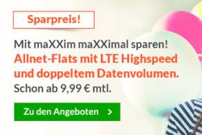 maXXim Karnevals Rabatt – Günstige LTE Tarife ohne Vertragslaufzeit