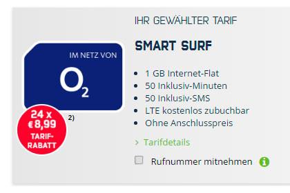 mobilcom-debitel o2 Smart Surf