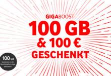 Vodafone 100 GB und 100 Euro