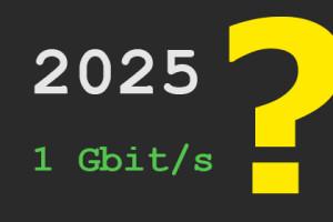 2025 - 1 Gbit/s