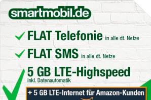 Deal: Sprach- und SMS Flat mit 10 GB LTE Volumen für 19,99 Euro/Monat