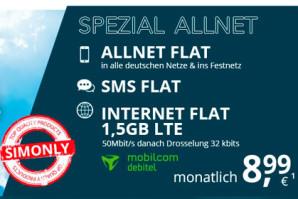 Deal: o2 Allnet Flat mit 1,5 GB LTE für 8,99 Euro ohne Kostenfalle
