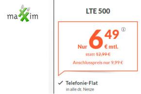 Deal: maXXim LTE Allnet Flatrate monatlich kündbar für unter 7 Euro
