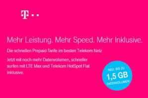 Telekom Prepaid Deal – Bonus Volumen für Neukunden