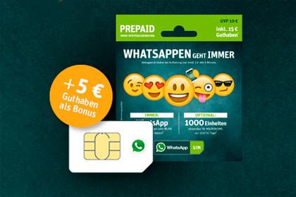 WhatsApp SIM - Starterpaket