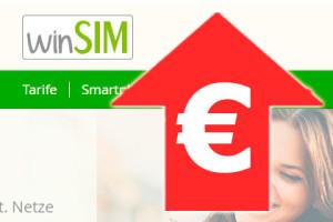 WinSIM – Preiserhöhung