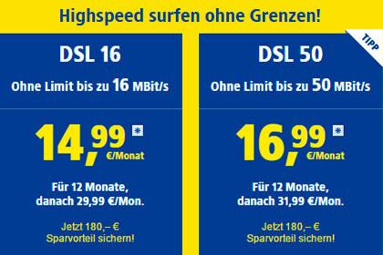 1&1 - DSL Angebote