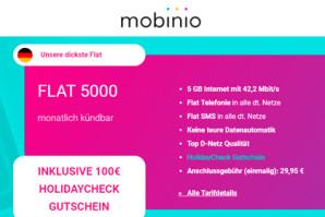 Deal: mobinio mit günstigen Tarifen ud Reisegutschein für neue Kunden