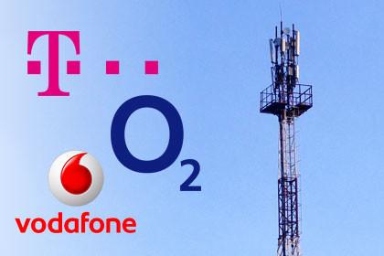 Telekom, o2, Vodafone Netze