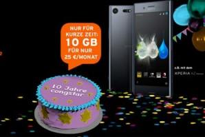 Zehn Jahre congstar – Jubiläumsangebot des Mobilfunkanbieters gestartet