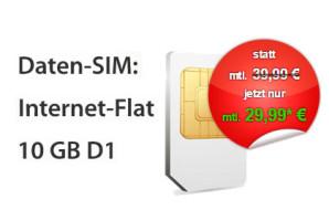 DatenSIM – Neue LTE Datenflat im Telekomoder Vodafone Netz