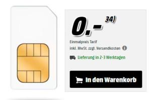 MediaMarkt Deal – o2 Free 15 GB mit 300 Euro Gutschein zu haben