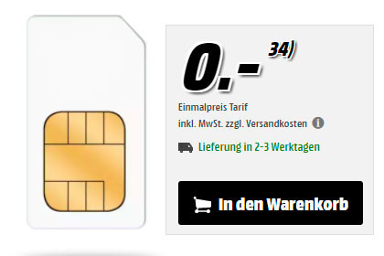 MediaMarkt - o2 Free 15