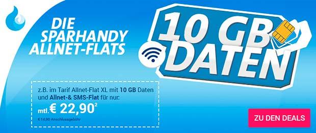 Sparhandy 10 Gb Daten
