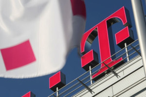 Telekom Logo Flag