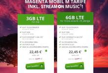Modeo Angebot für Magenta-Mobil Tarife mit 3 GB und 6 GB LTE im Vergleich