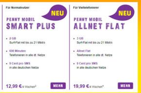 Rewe Discounter PennyMobil und ja!mobil mit neuen Tarifen