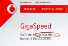 Vodafone - 500 Mbit/s