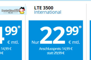 DeutschlandSIM – Aus LTE 3000 International wird LTE 3500 International
