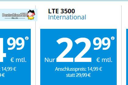 Deutschlandsim LTE 3500