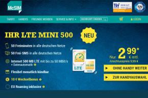 1 GB LTE Speed und Freieinheiten für nur 4,99 Euro