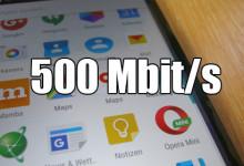 Smartphone - 500 Mbit/s