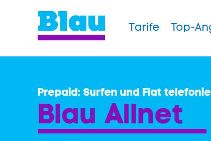 Blau Allnet Tarif