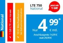 Deutschlandsim - 1 Gb LTE