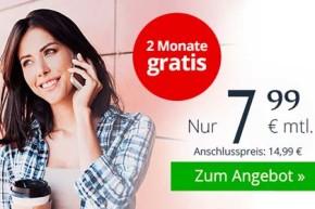 winSIM LTE All 2 GB – 2 Gratismonate und 2 GB LTE Flatrate für unter 8 Euro