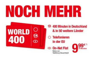 OrtelMobile Wold 400 und World 1000 – Telefonieren in 50 Länder