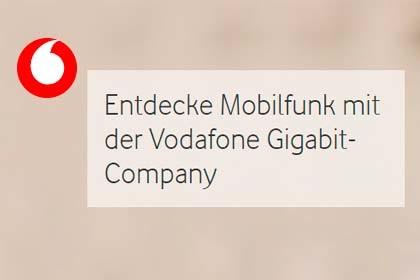 Vodafone - Gigabit Mobilfunk