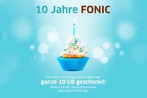 Fonic wird 10 – Gratis Datenvolumen für fast alle Kunden