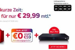 Deal – Noch dieser Woche Sky komplett inklusive HD für 29,99 Euro