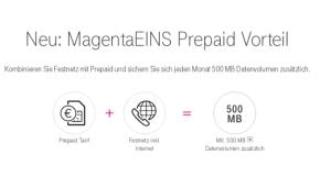 500 MB Datenvolumen kostenlos für Prepaid Kunden mit Telekom MagentaEINS Tarif